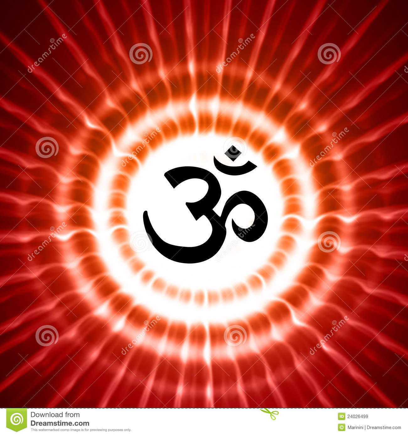 Om Symbol Over Rays Stock Illustration Illustration Of Meditation