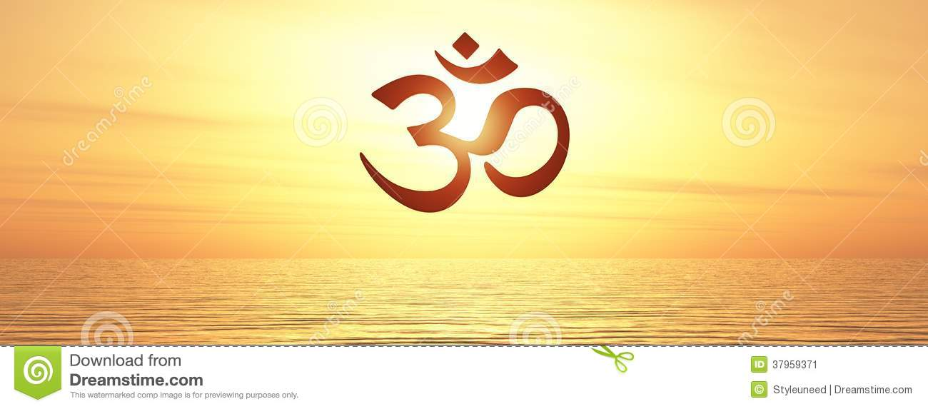 Om Symbol On Water Stock Image Image Of Script Mantra 37959371