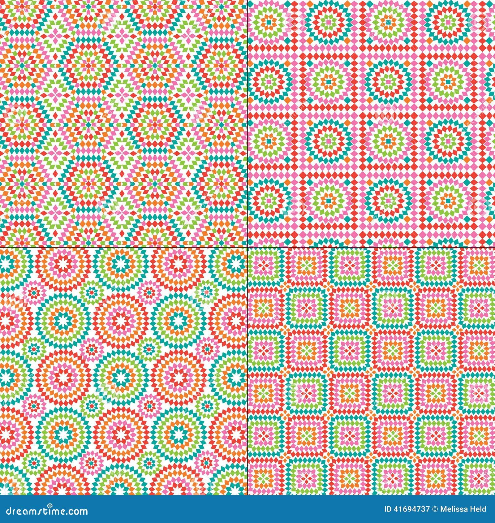 Oma-quadratische Muster vektor abbildung. Illustration von ...