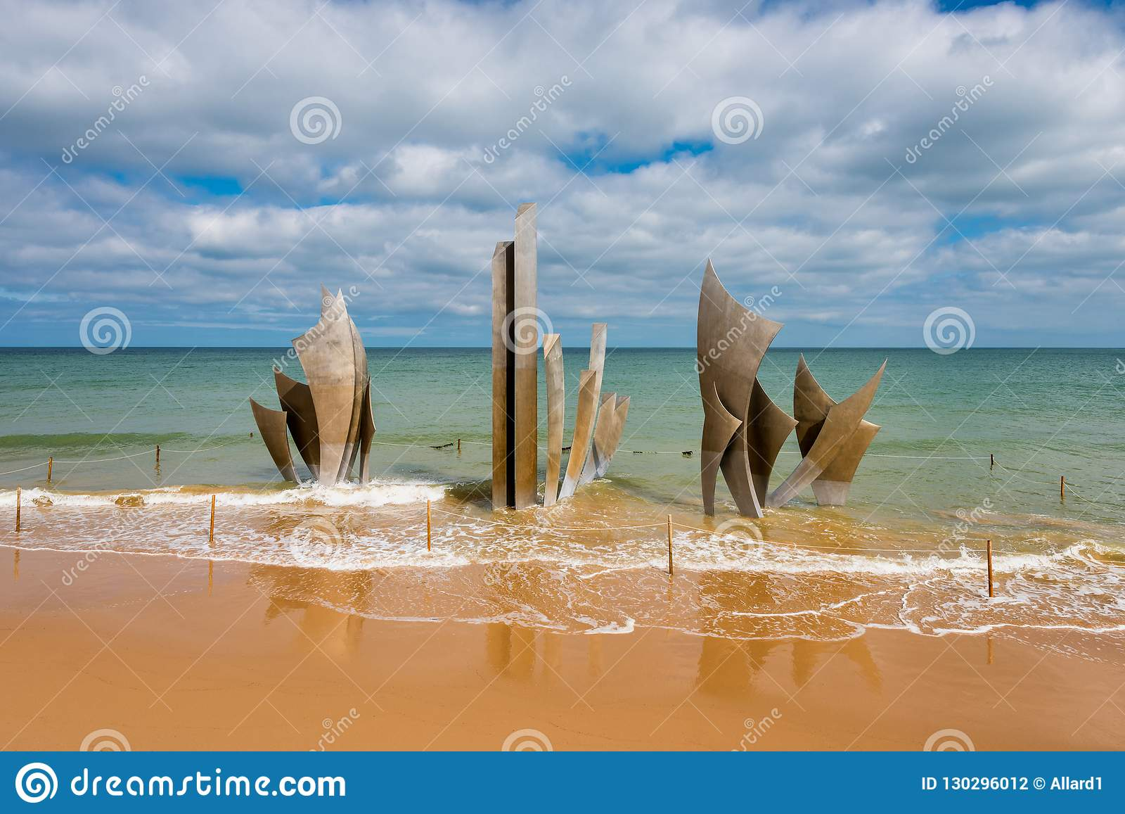 Omaha Beach Memorial Sculpture In Saint-Laurent-sur-Mer