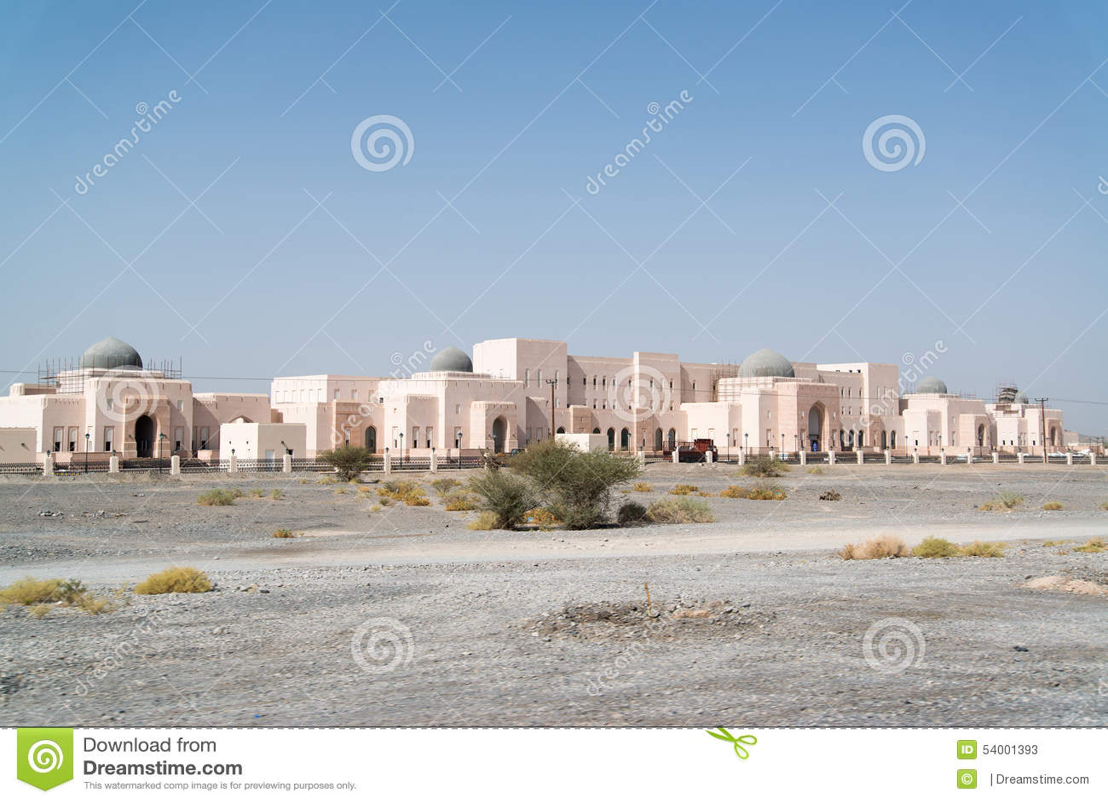 Oman buildings stock image  Image of change, land, driving
