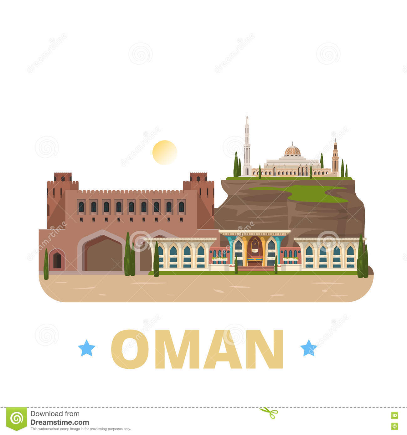 Floor Plan Template Free Oman Country Design Template Flat Cartoon Style We Stock