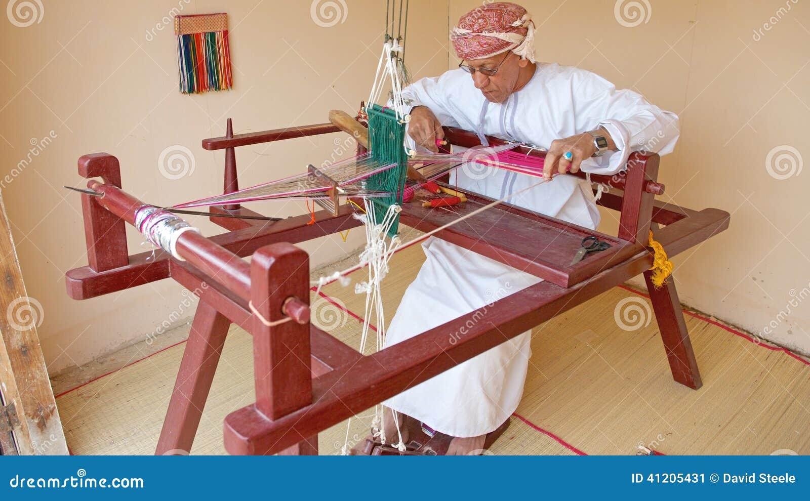 Omani Weaver editorial photo  Image of craftsman, weaver - 41205431
