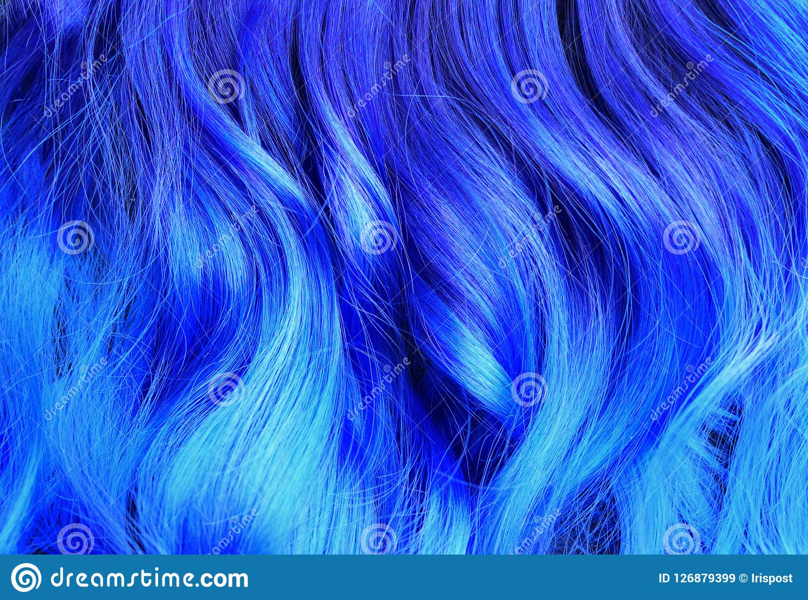 Ombre Hair Dying Black To Blue With Turquoise Highlights Brig