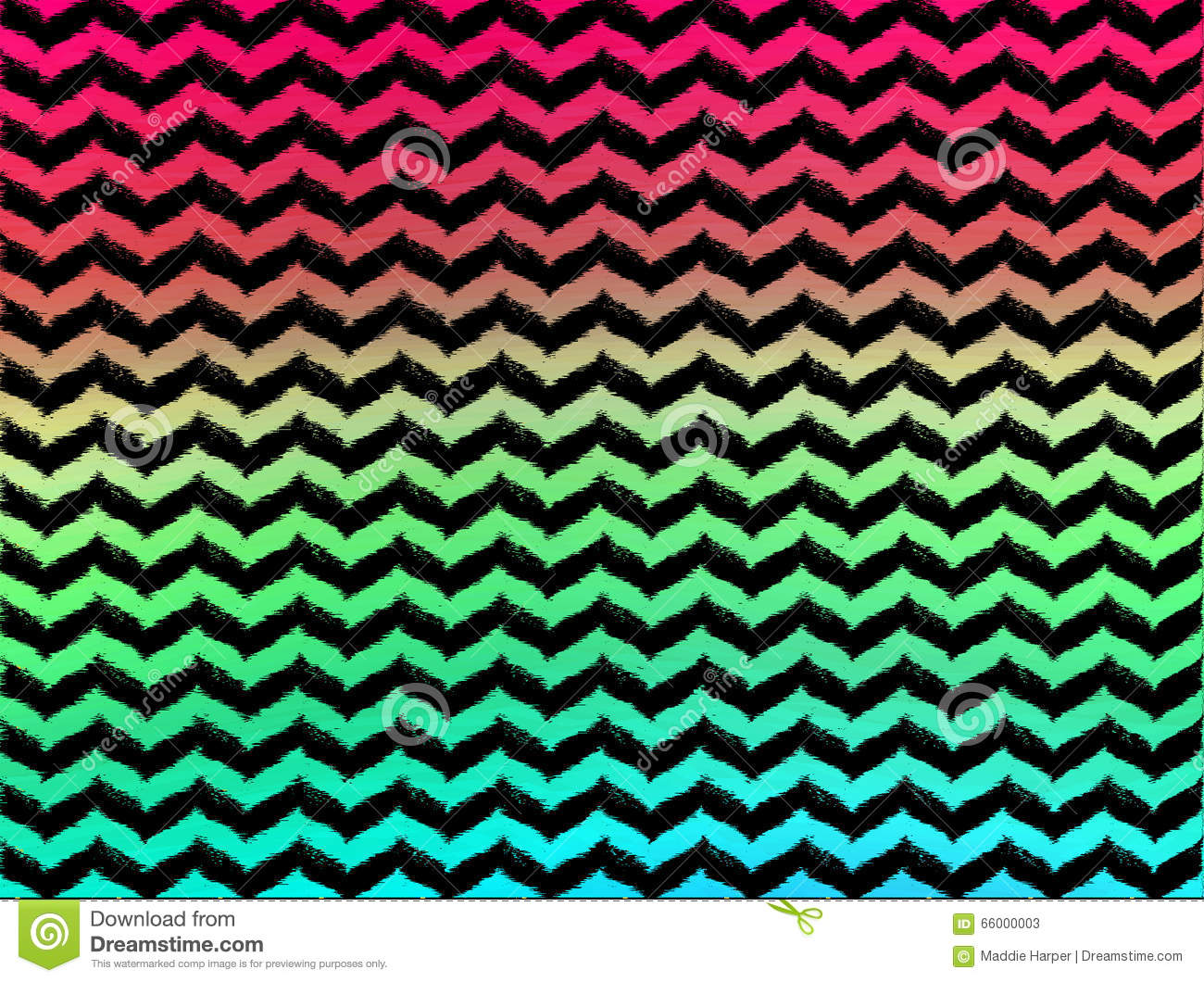 Ombre Wavy Chevrons On Black Background Stock Illustration ...