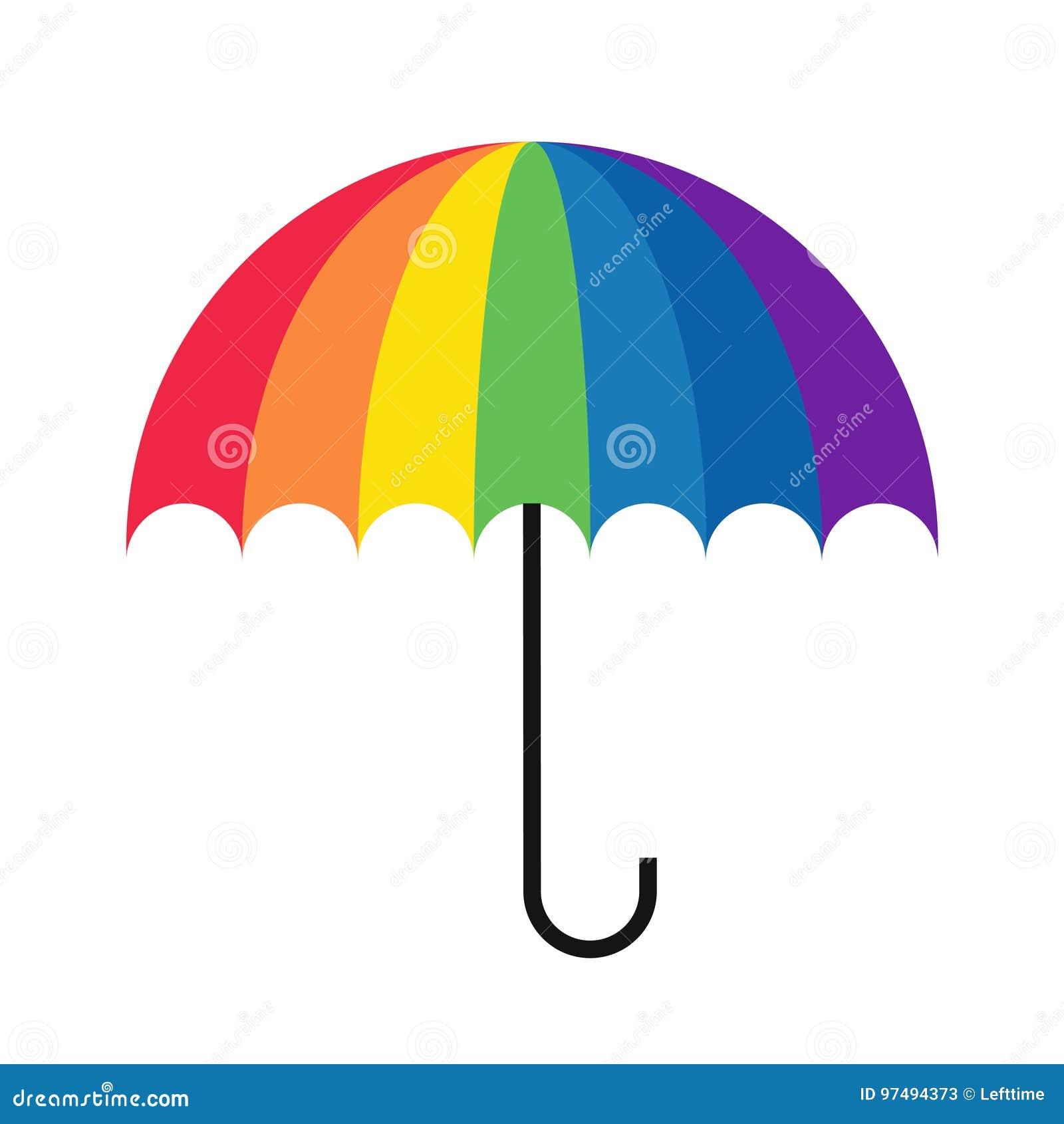Ombrello dell arcobaleno semplice