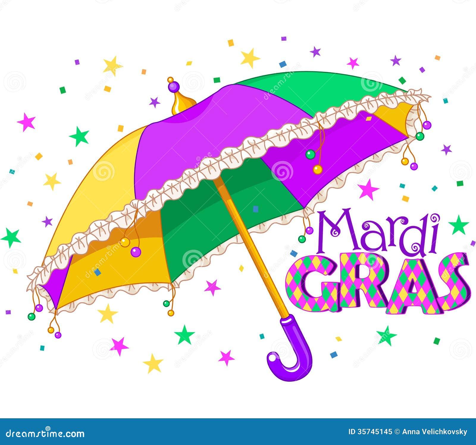 Ombrello di Mardi Gras