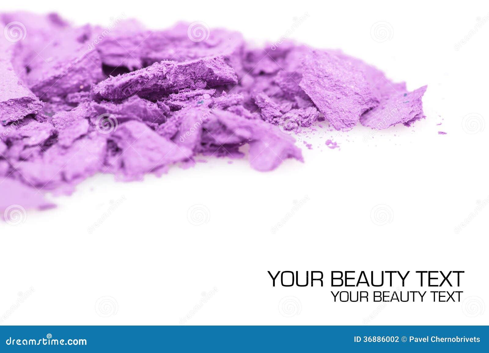 Download Ombretti Schiacciati Su Fondo Bianco Fotografia Stock - Immagine di pink, polvere: 36886002