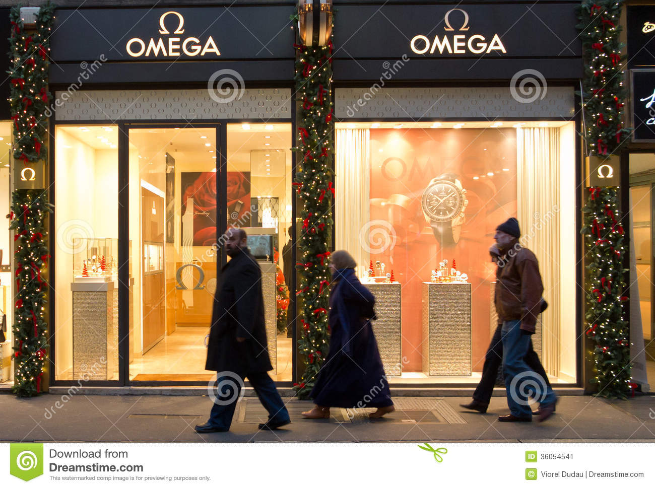 omega shop in milan editorial photo image of center