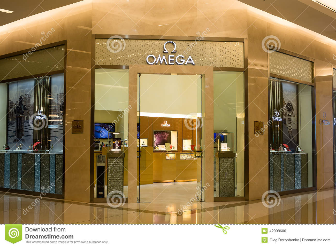 Omega Store In Siam Paragon Mall In Bangkok Thailand