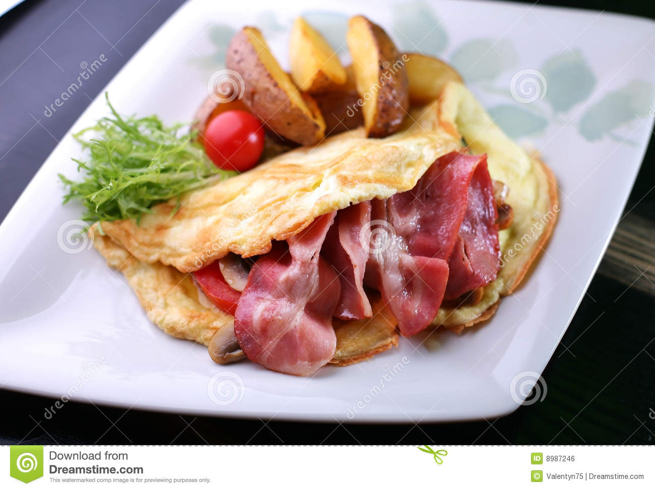 Bacon Omelet Royalty-Free Stock Photography ...
