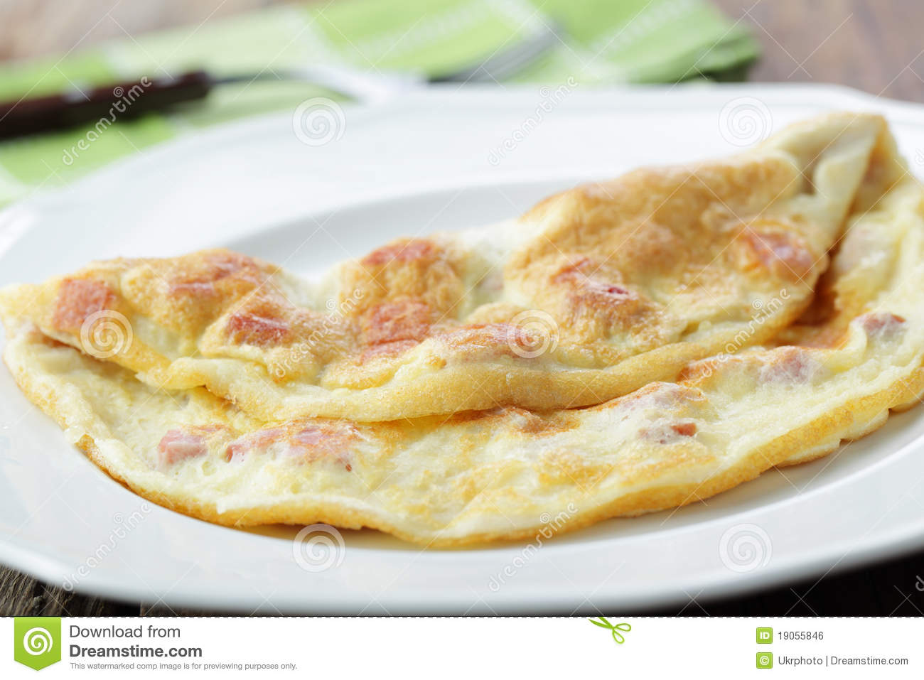 how to make an omelette with ham
