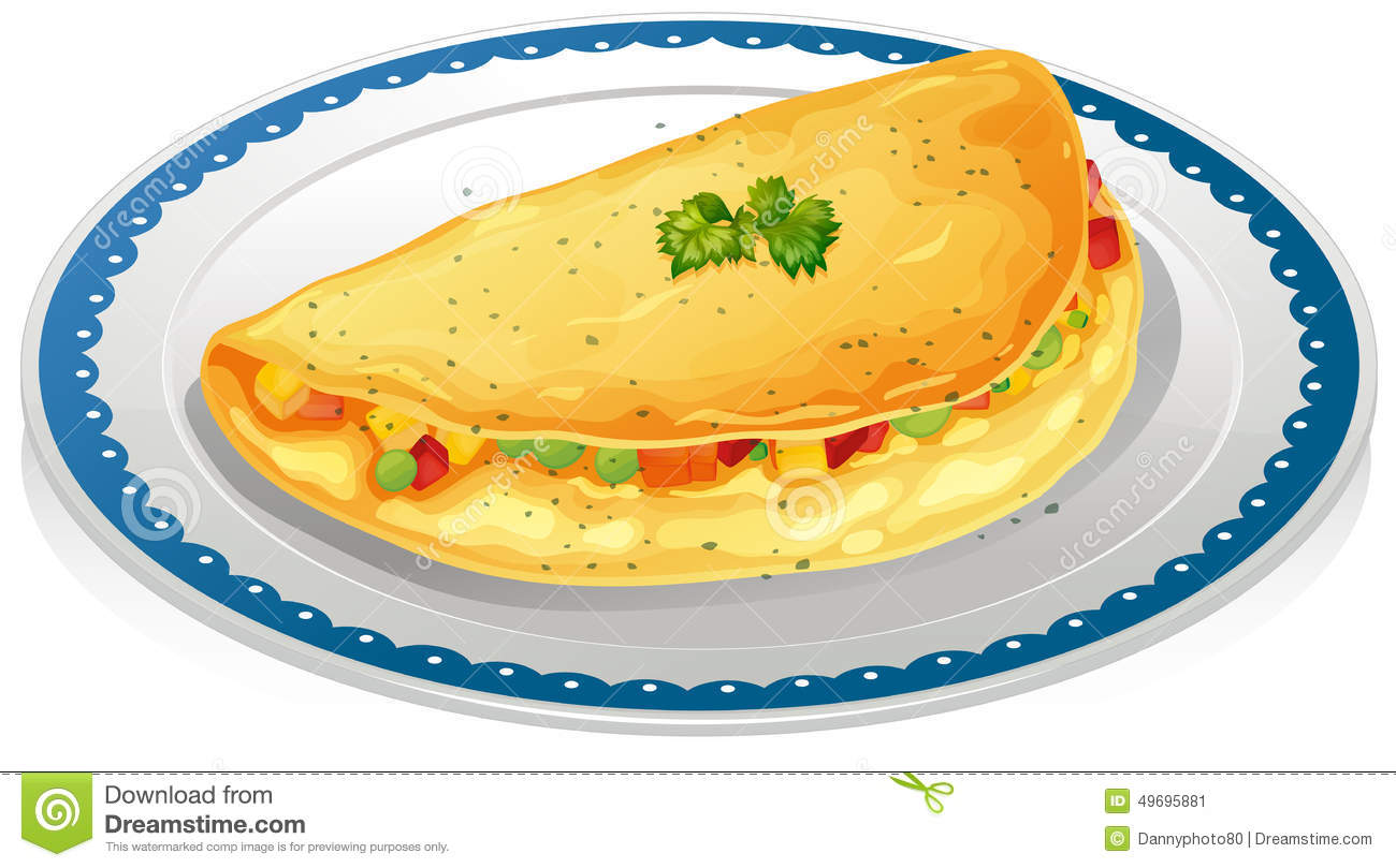 Omelet Stock Vector Illustration Of Nutrition Fresh