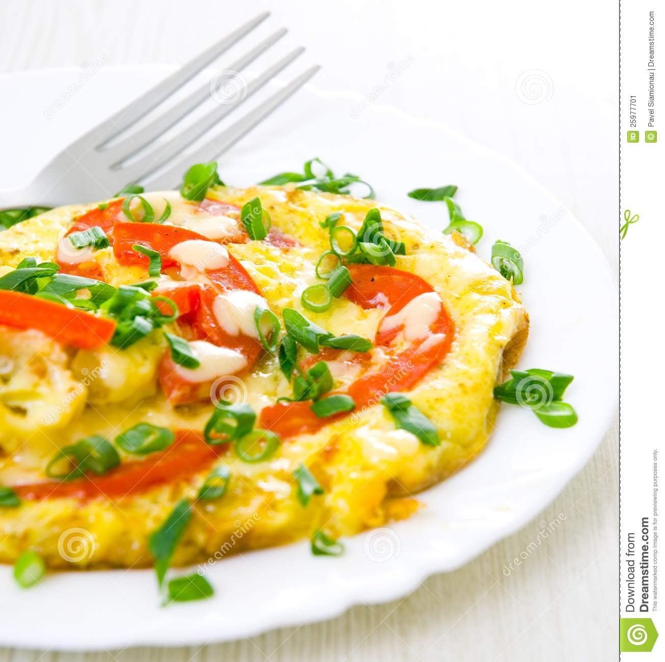 Omelet With Tomatoes Stock Image - Image: 25977701