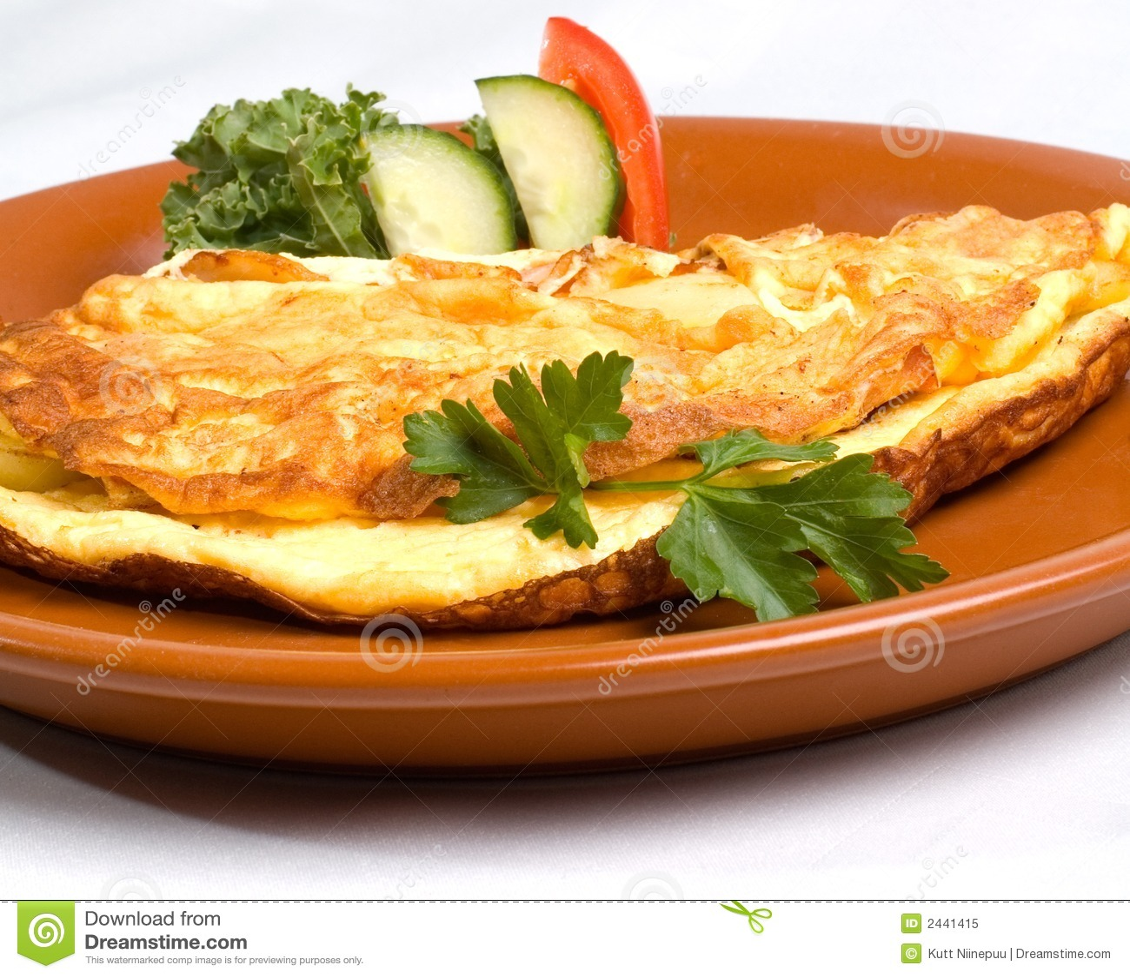 Omeleta com presunto & queijo