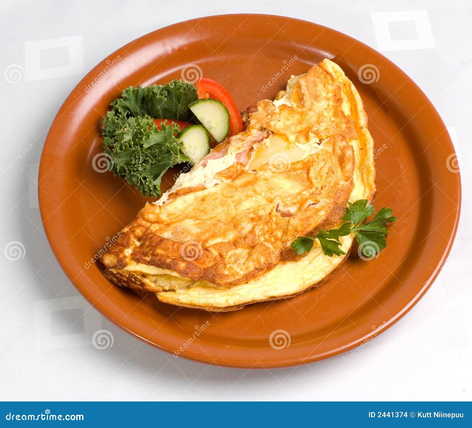 Omeleta com presunto e queijo
