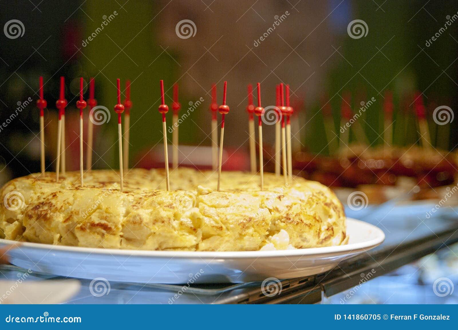 Omelett Spanische Tortilla Pinchos und Tapas