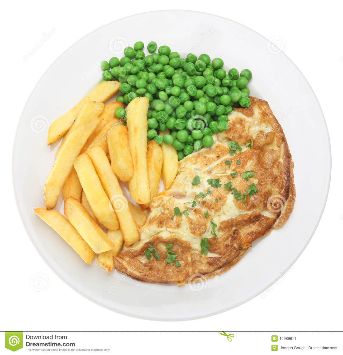 Omelette And Chips Stock Image - Image: 10989611