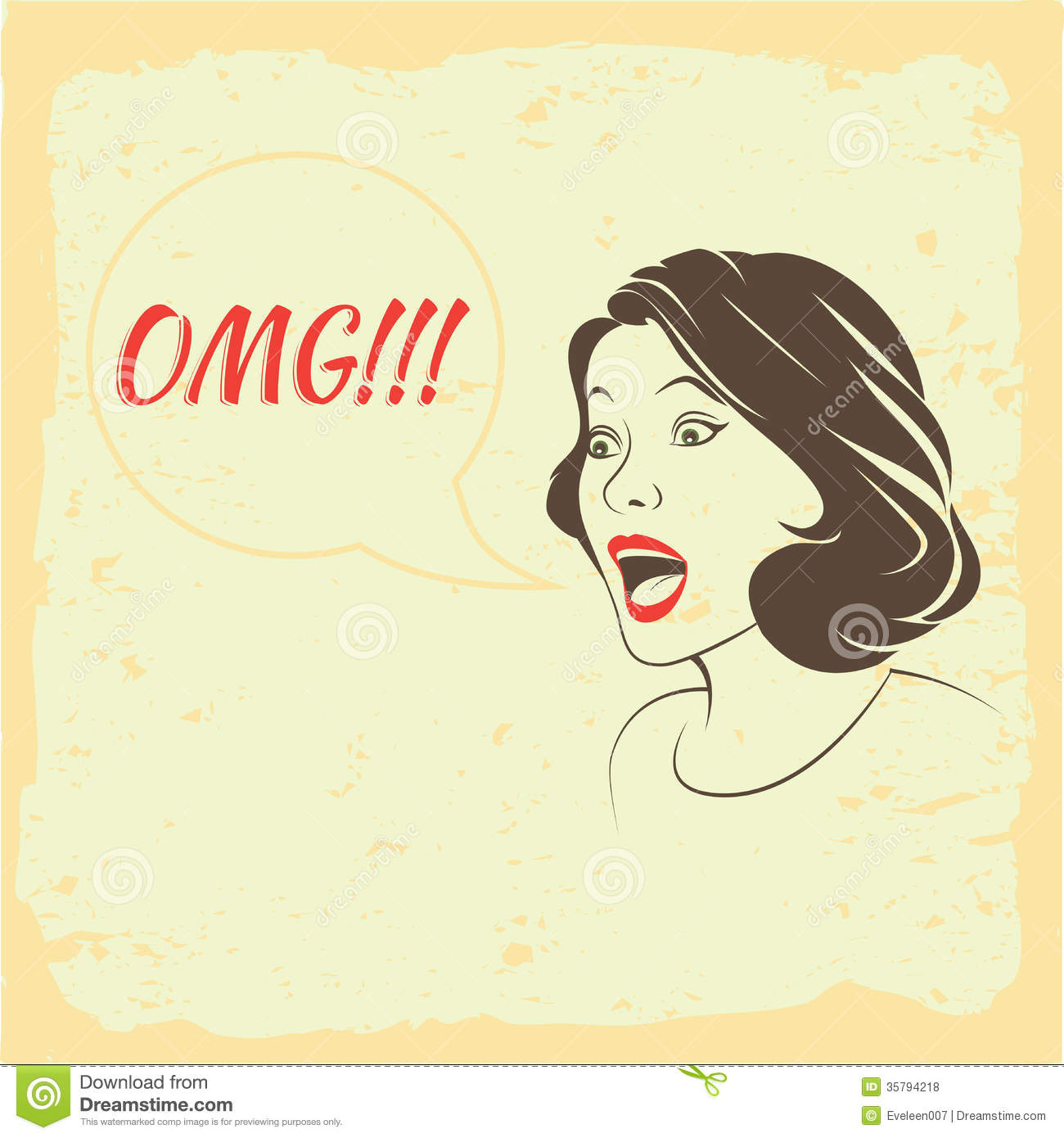 Oh My: OMG, Oh My God, Stock Vector. Image Of Scared, Defenseless