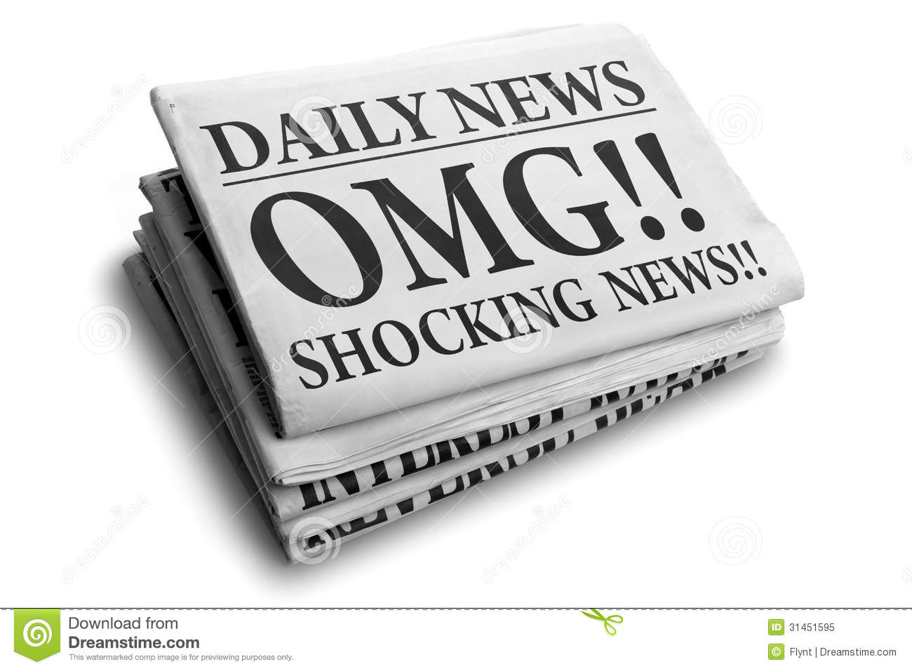OMG Shocking News Daily Newspaper Headline Royalty Free Stock Photo ...