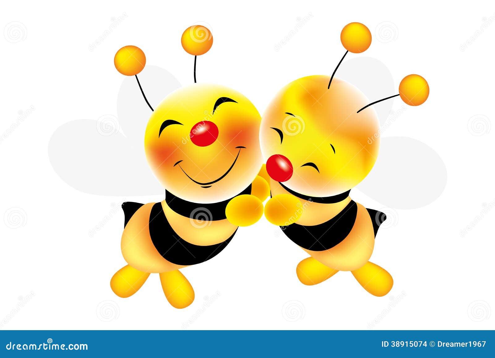 Omhelzing Van Bijen - Voorraadillustratie Vector ...