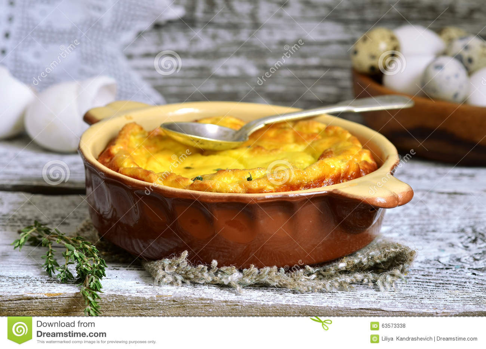 Omlet z ricotta i macierzanką