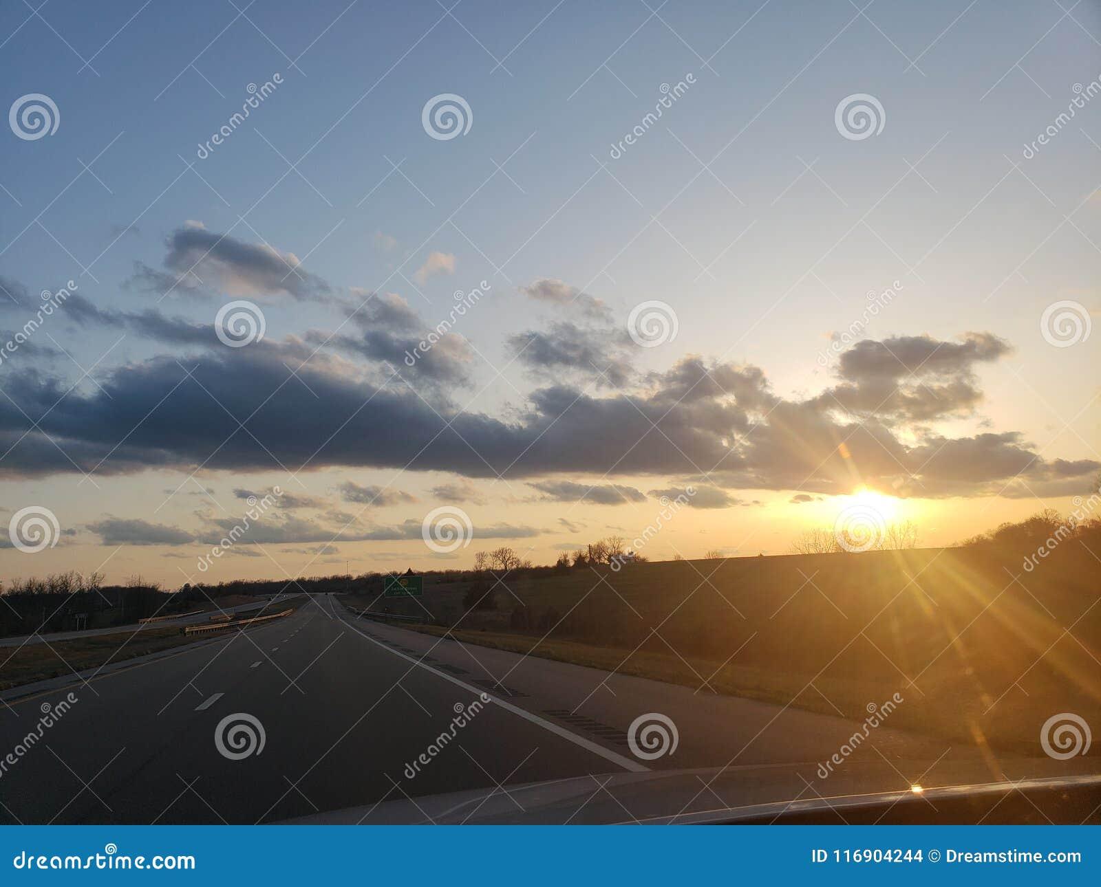 Omnibus de coucher du soleil