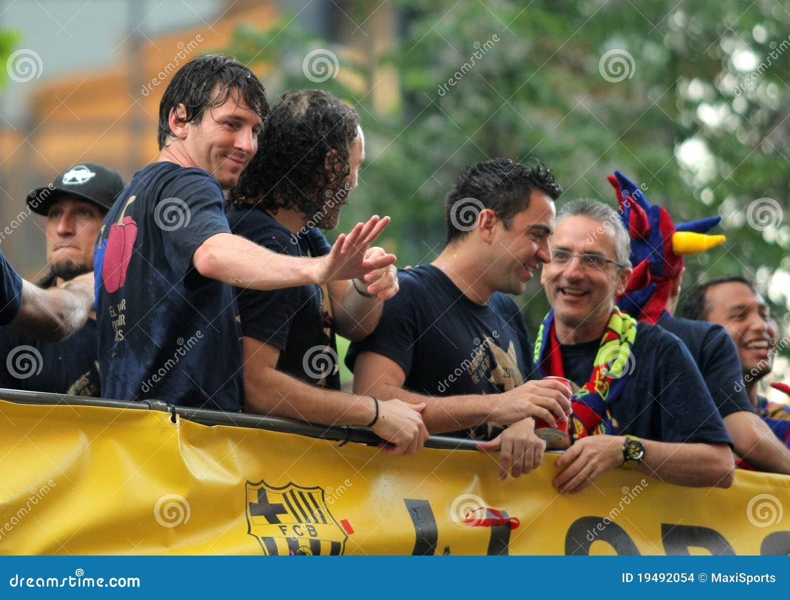 Omnibus de los jugadores de FC Barcelona