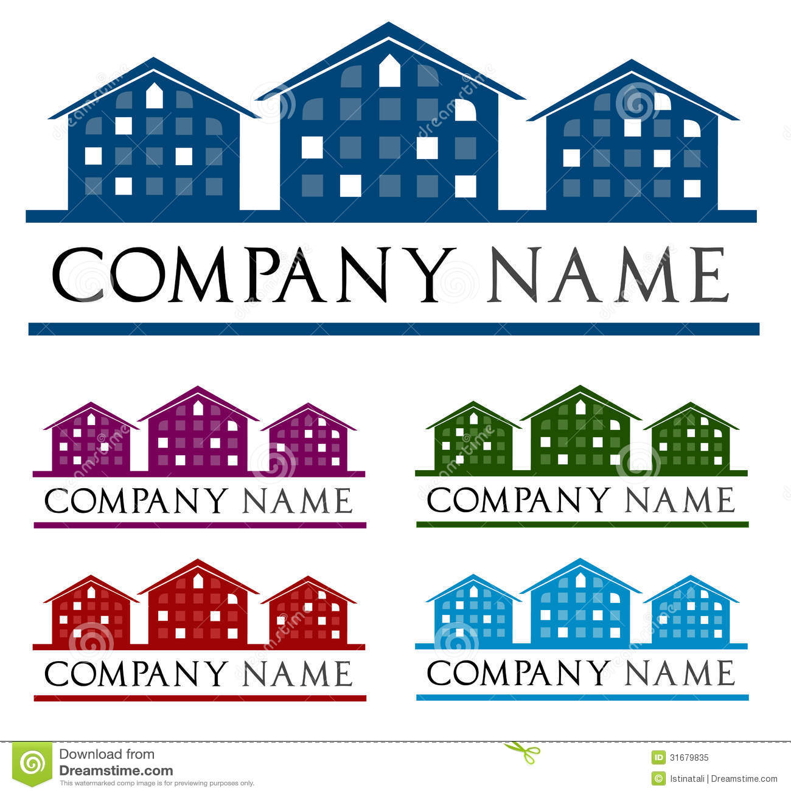 Ompany Logo House Cartoon Vector