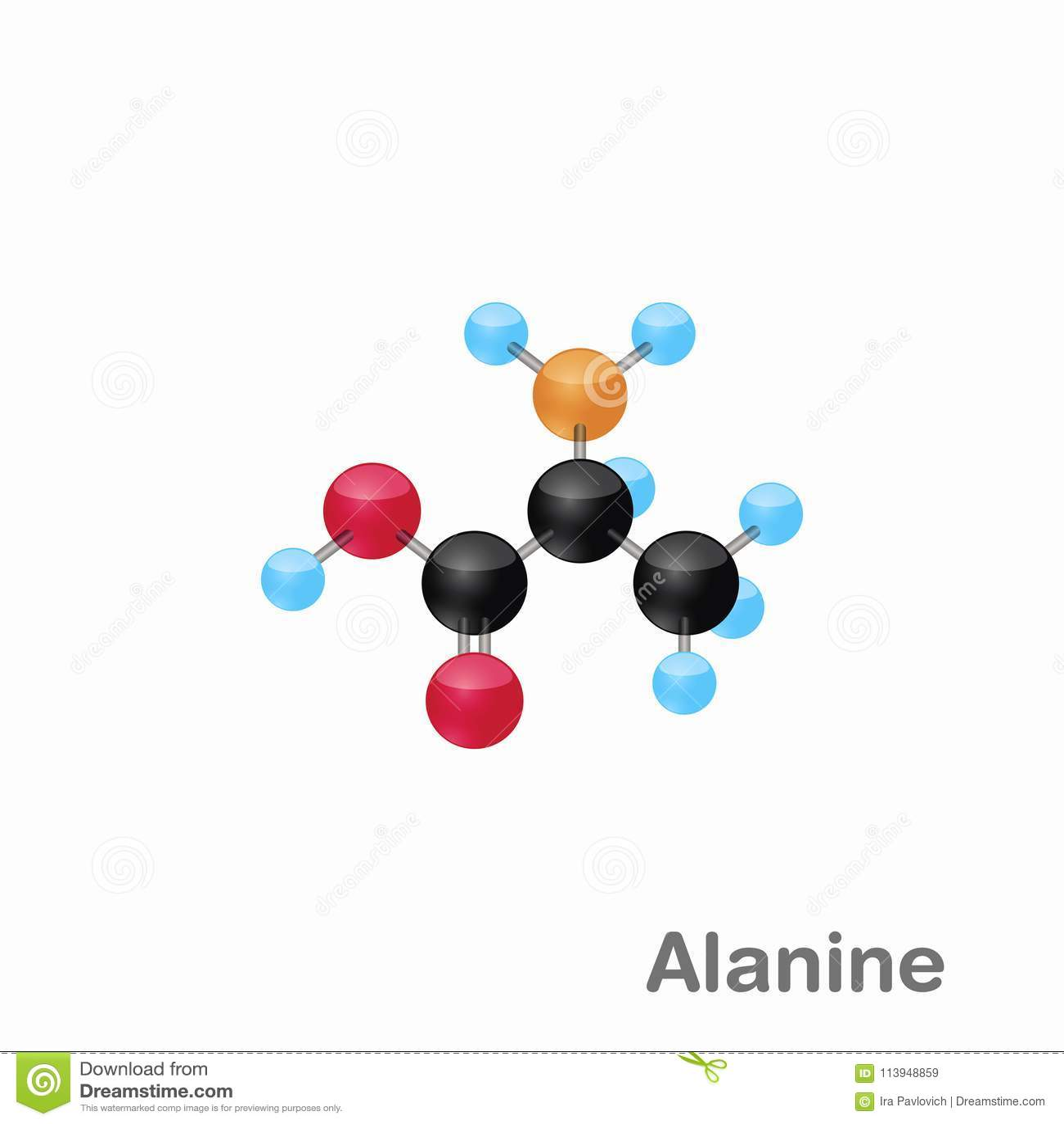 Omposition E Estrutura Moleculars Da Alanina Alá Melhor