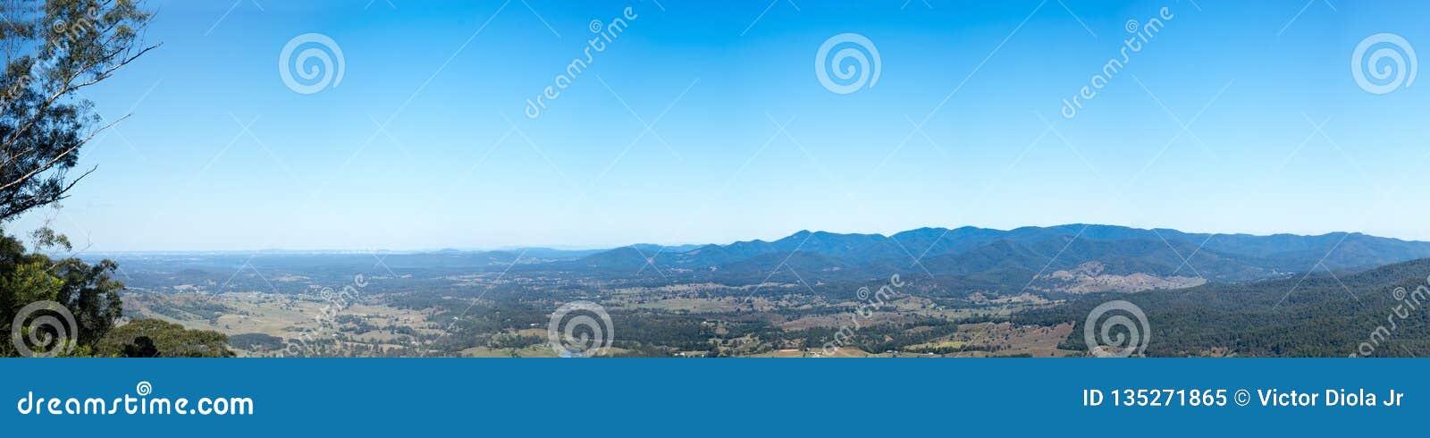 OmrådeBrisbane Australien för D Aguilar panorama