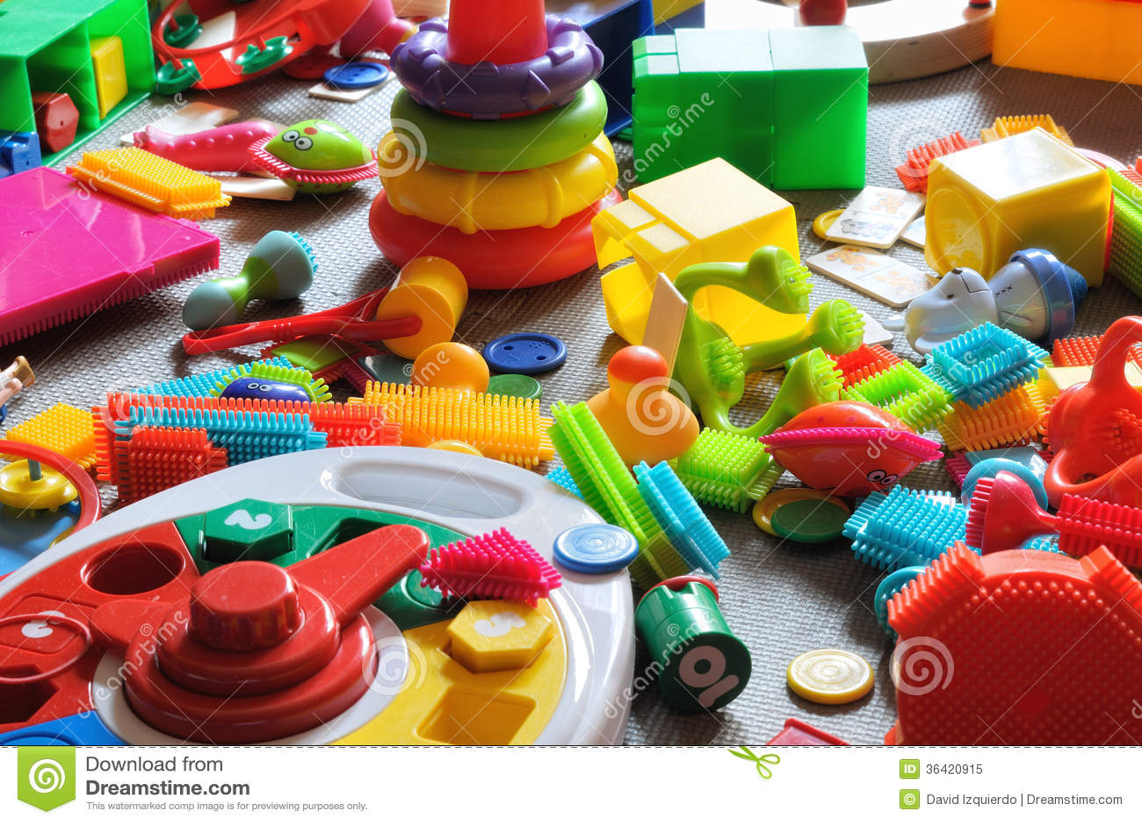 Områdesbarns leksaker