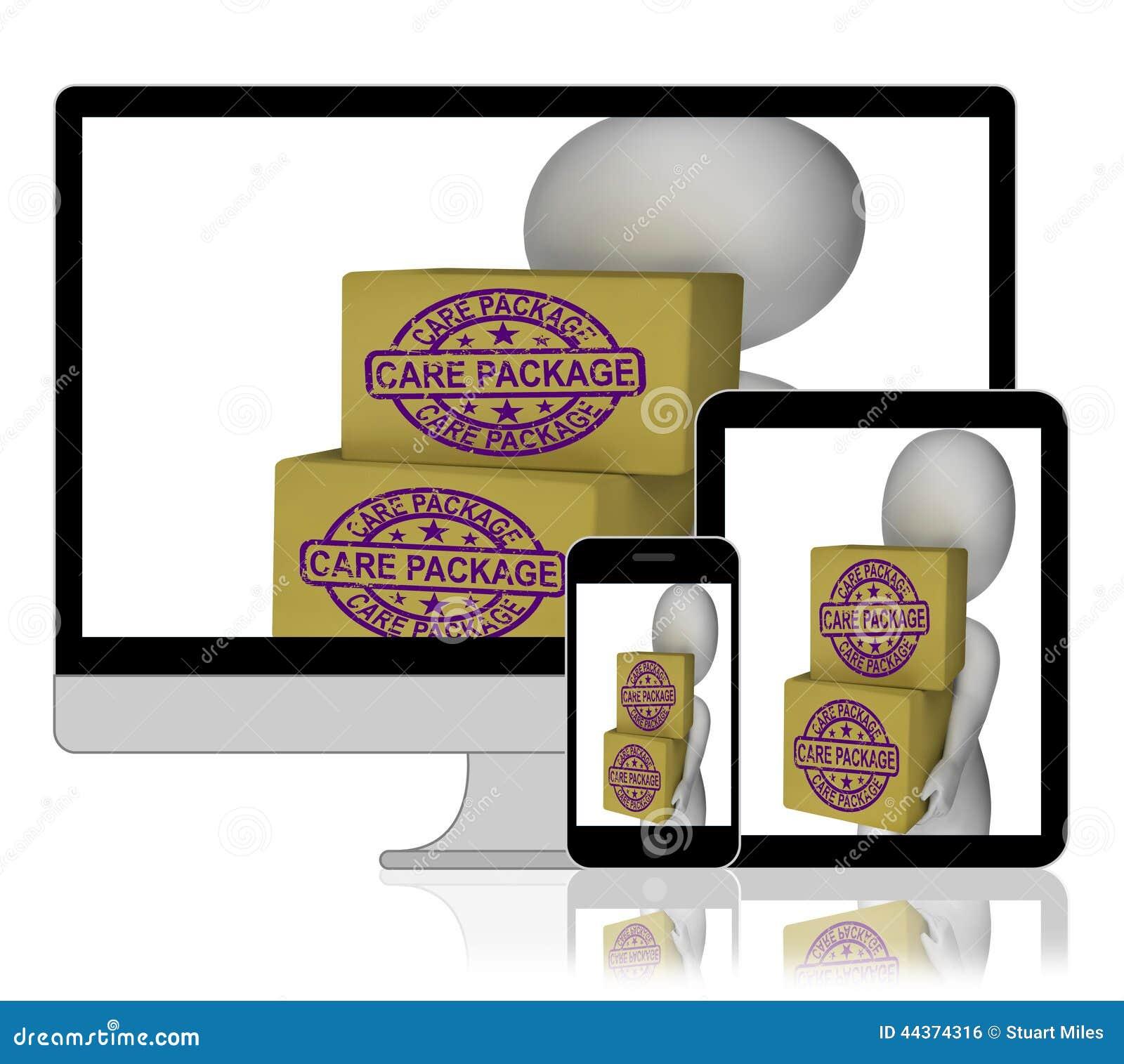 Omsorgpacken boxas skärmgåvor hemifrån eller utlandsbistånd