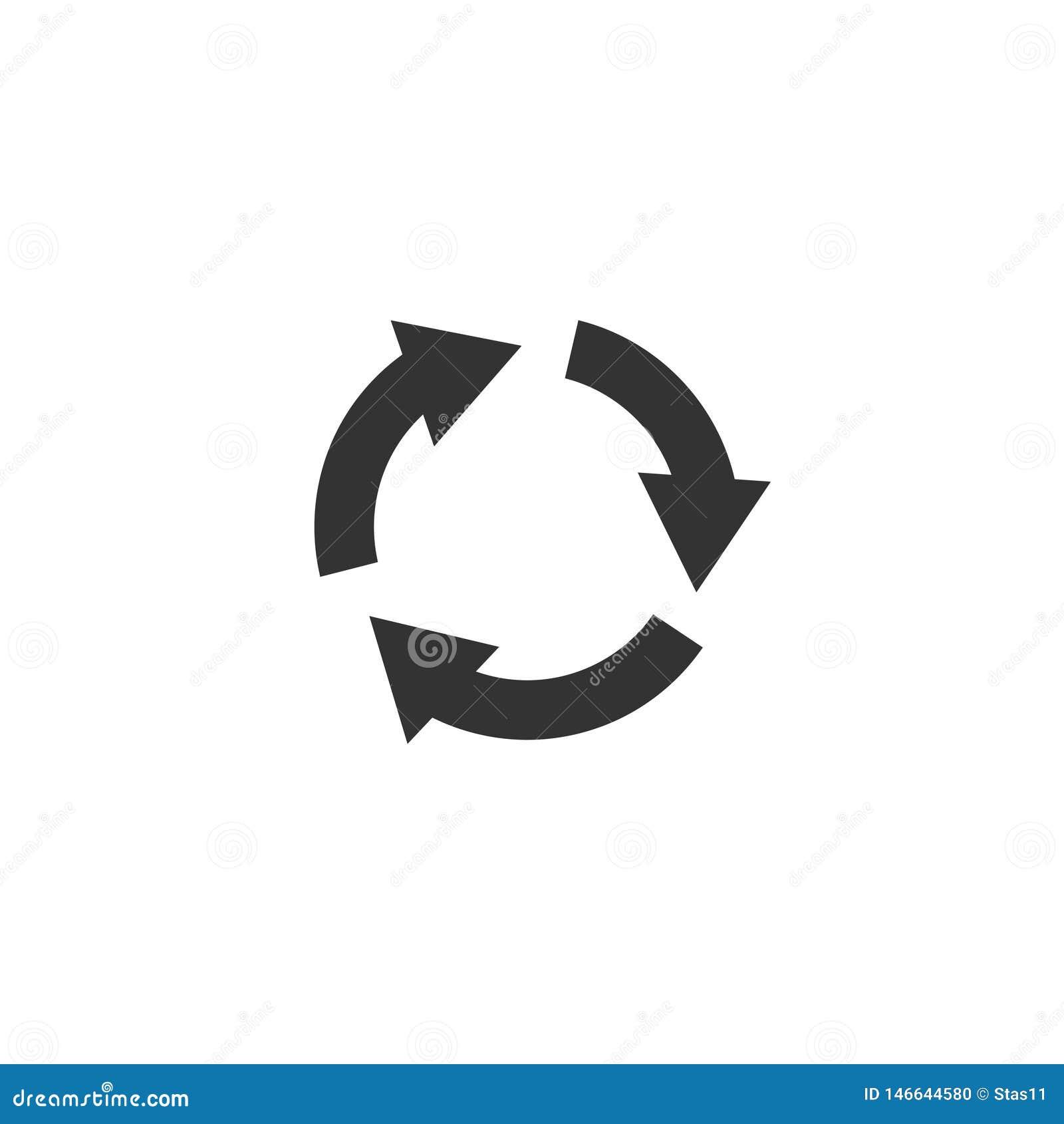 Omwentelingspictogram in eenvoudig ontwerp Vector illustratie