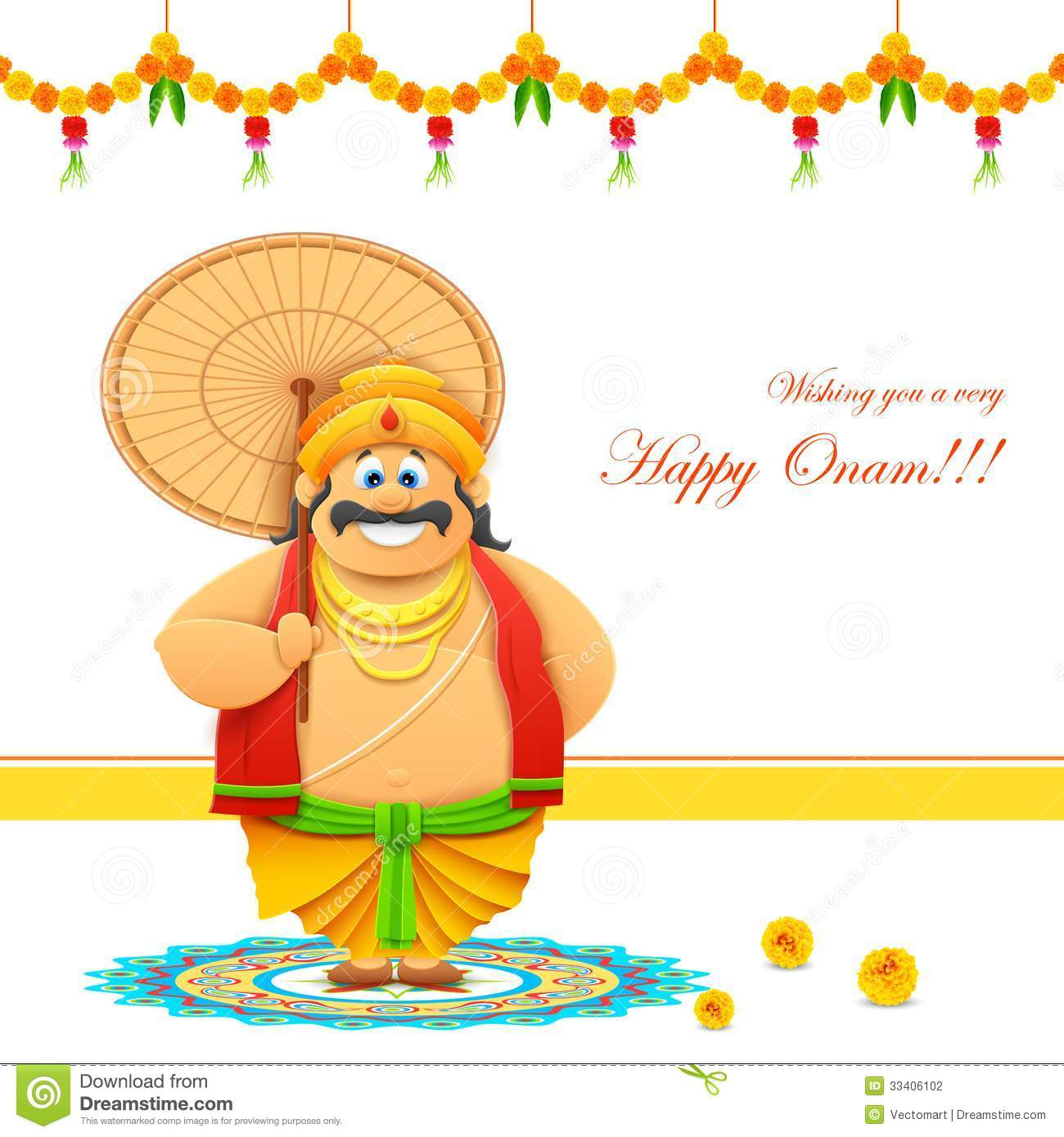 Onam Background Stock Vector Illustration Of Background 33406102