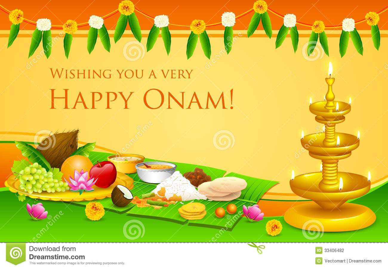 Onam feast stock vector illustration of cultural curry 33406482 royalty free stock photo kristyandbryce Choice Image