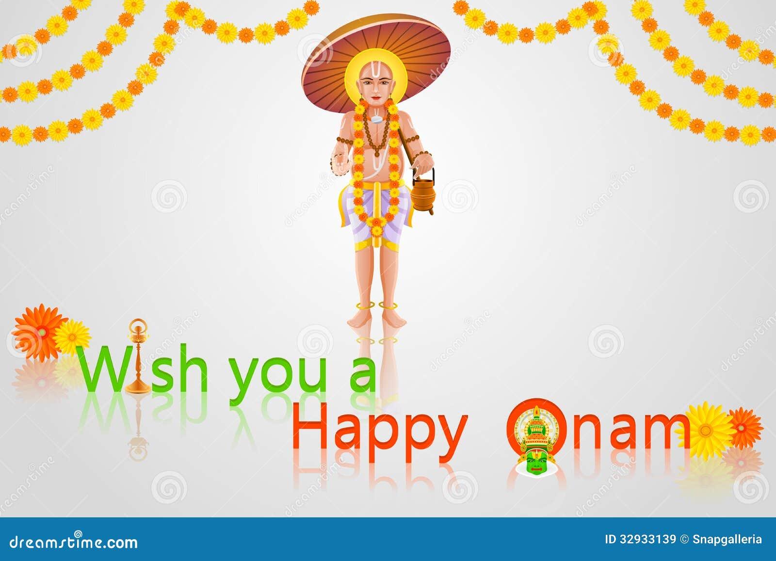 Onam Greetings Stock Vector Illustration Of Chingam 32933139