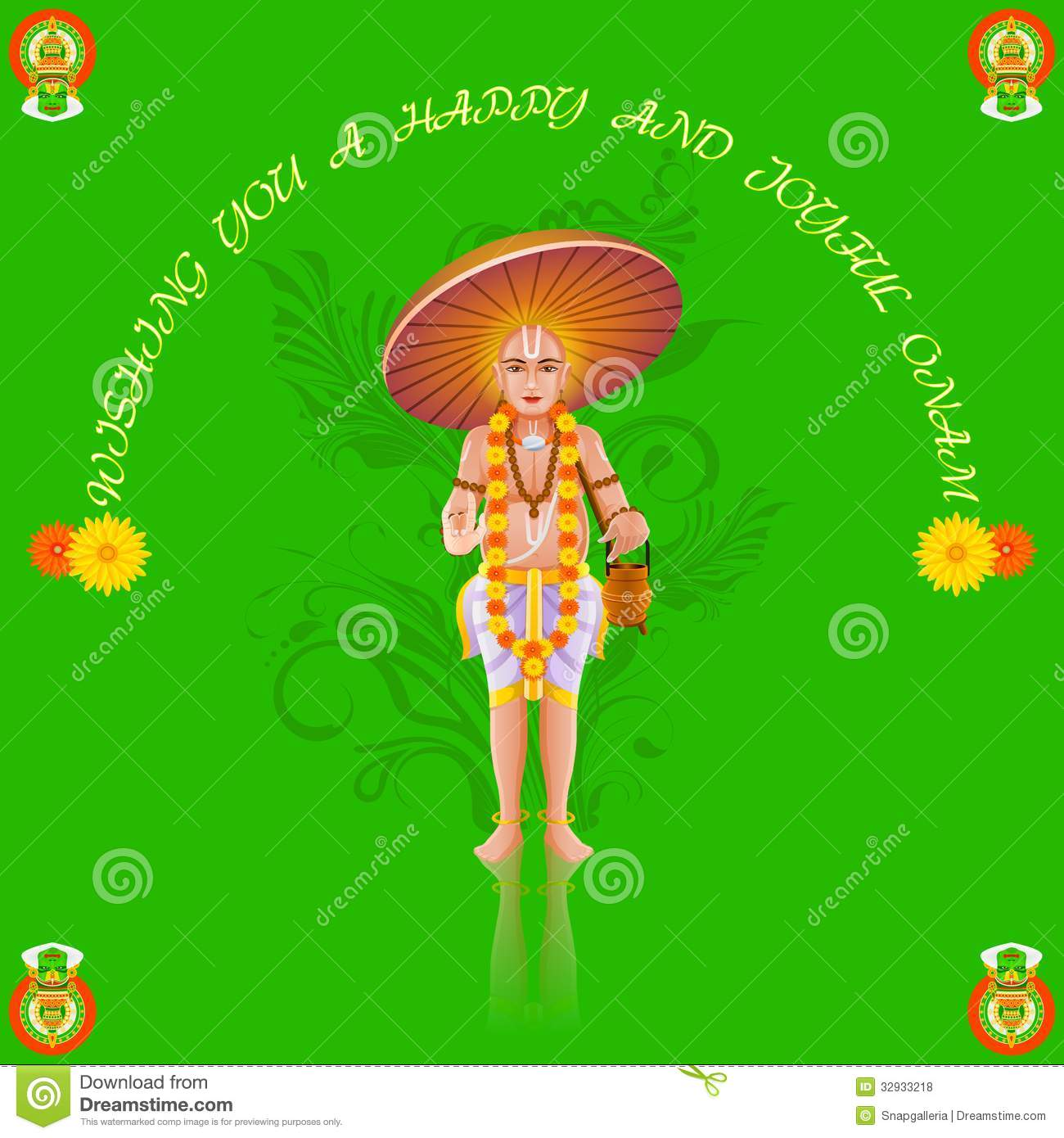 Onam Greetings Stock Vector Image Of Expression Concept