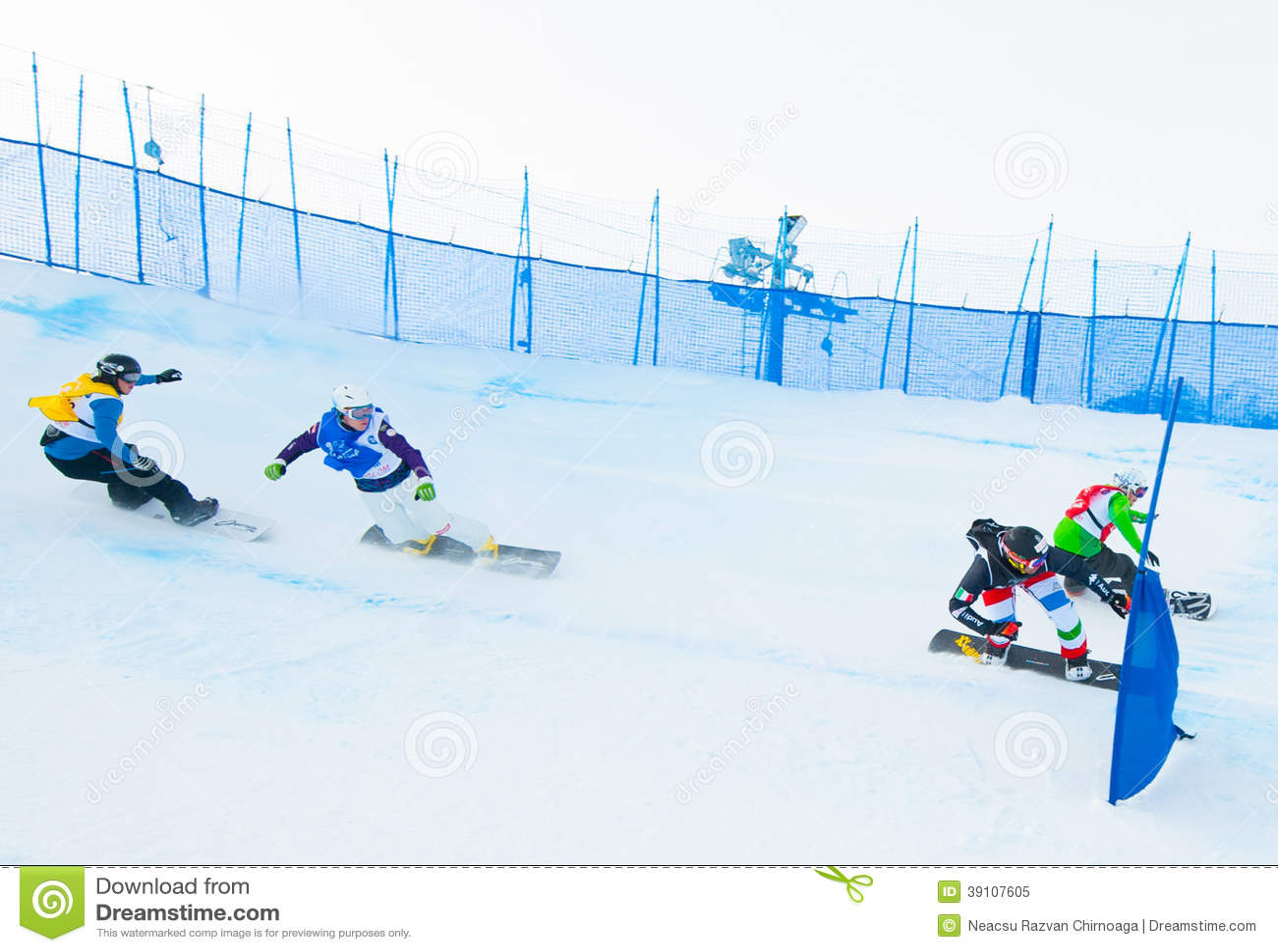Onbekende snowboarders