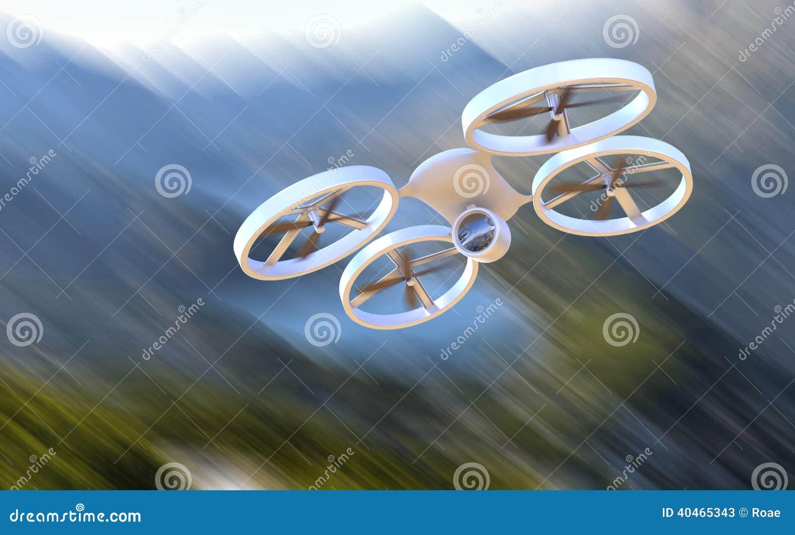 Onbemande Luchtvoertuighommel tijdens de vlucht