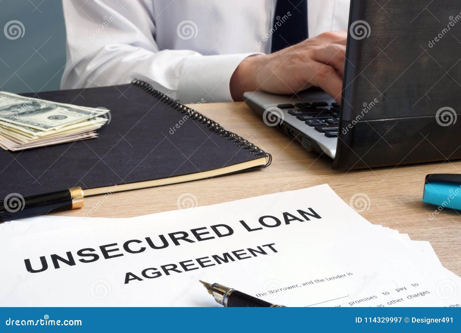 Onbeveiligde leningsvorm in een bureau