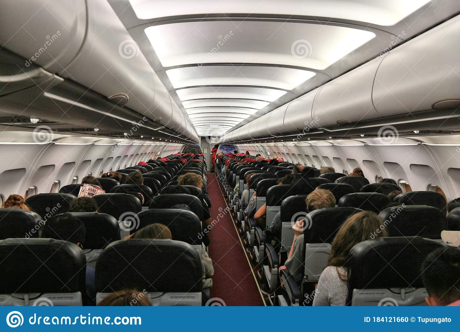 Onboard low cost airline editorial image. Image of ...