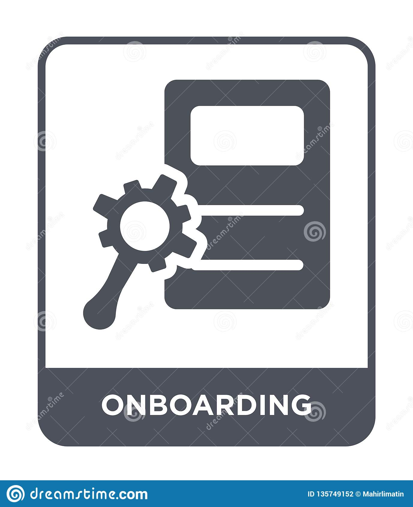 onboarding icon in trendy design style. onboarding icon isolated on white background. onboarding vector icon simple and modern