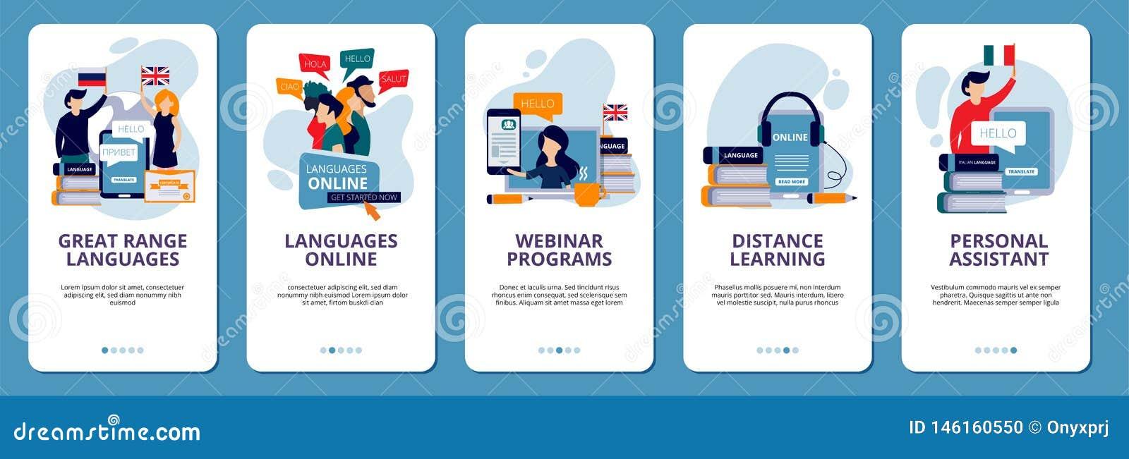 Onboarding Screens  Language Learning School Online Distance