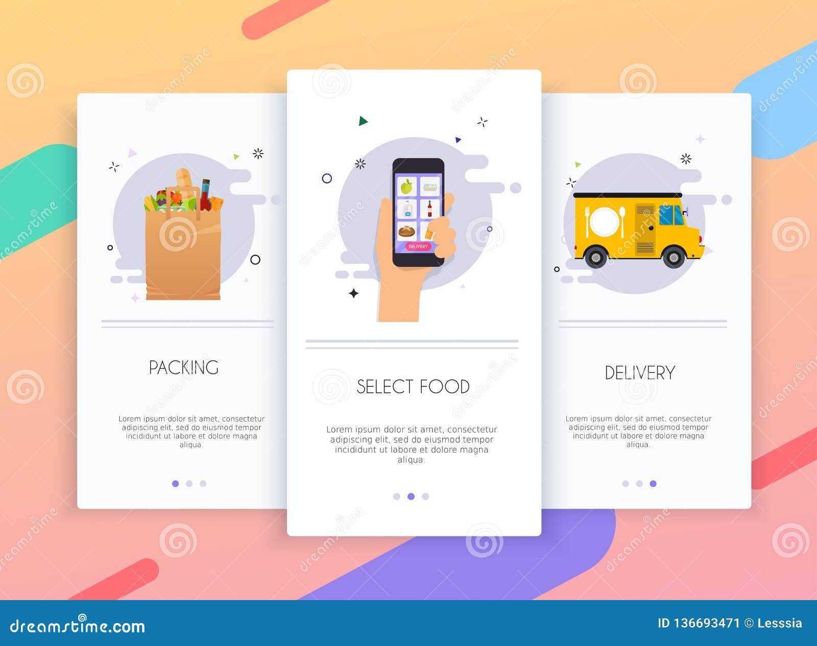 Onboarding Screens User Interface Kit For Mobile App