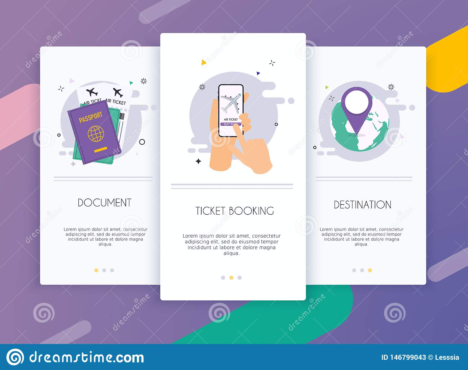 Onboarding Screens User Interface Kit For Mobile App
