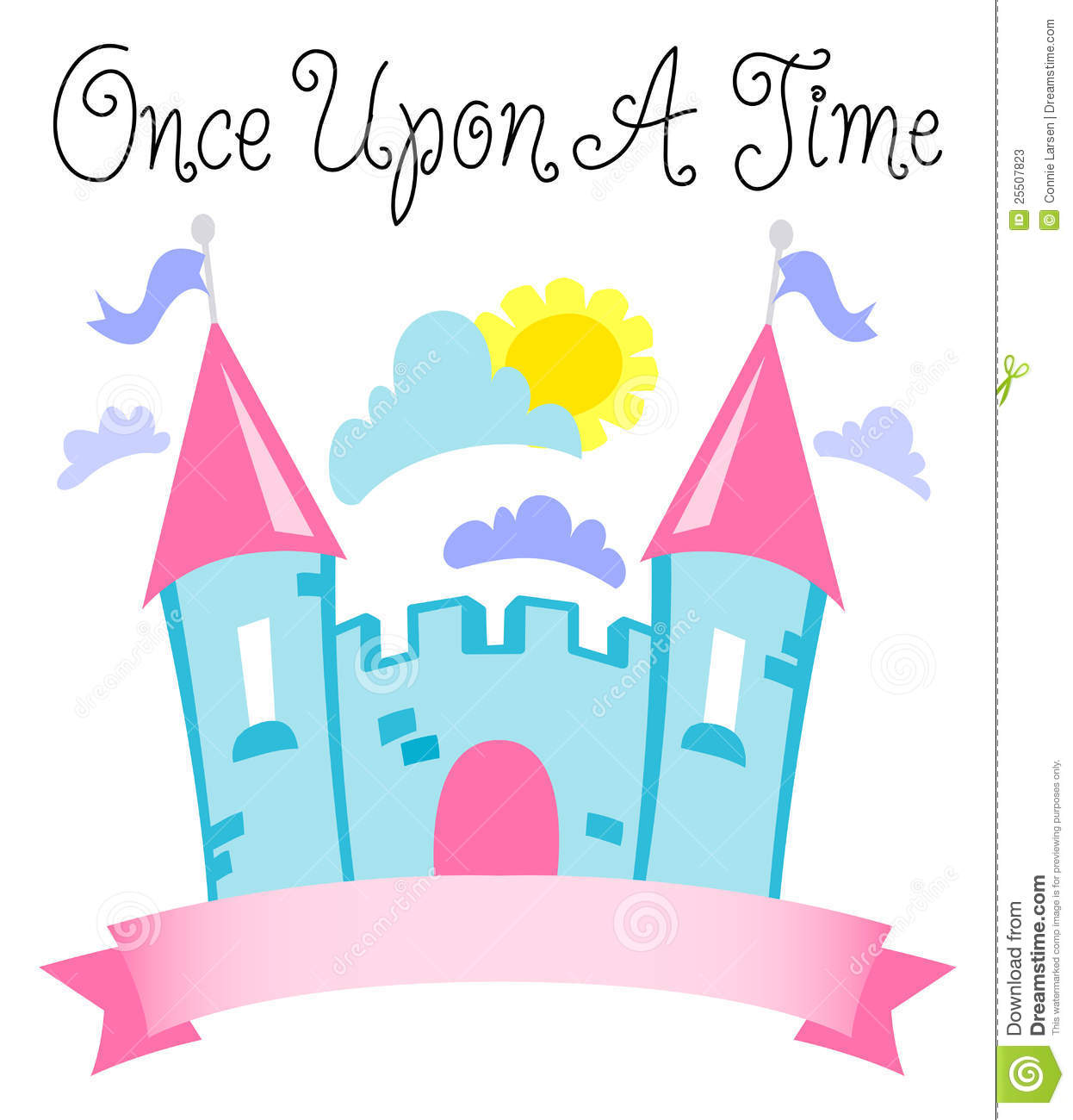 Once Upon A Time Fairytale Castle/eps Stock Vector ...