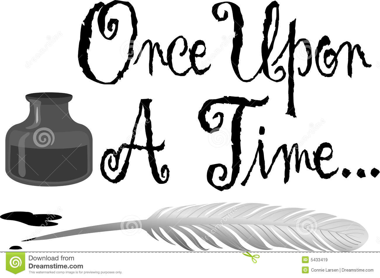 Once Upon A Time Calligraphy Once Upon a Time Pen Ink