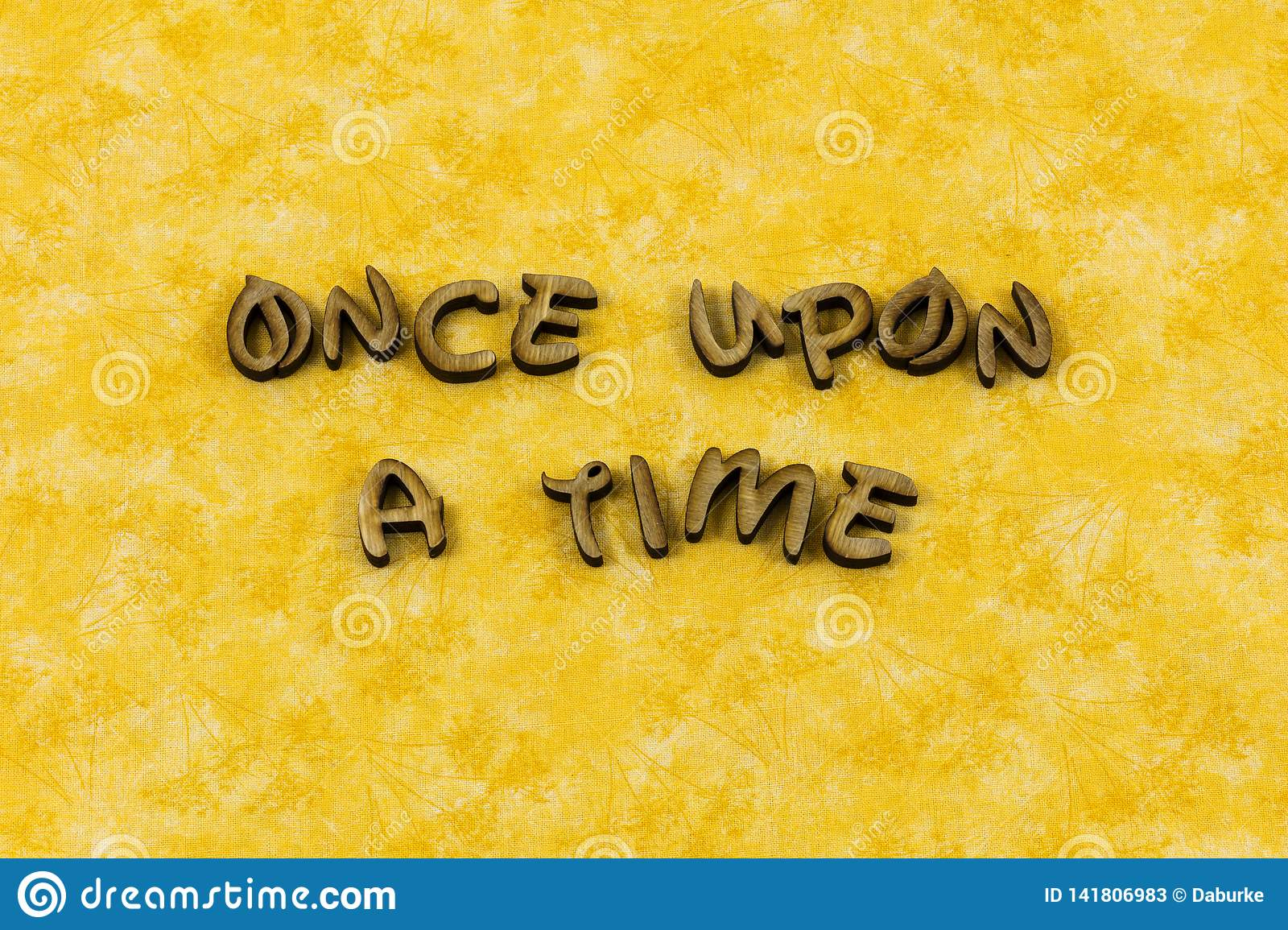 Once Upon Time Storytelling Story Child Typography Word