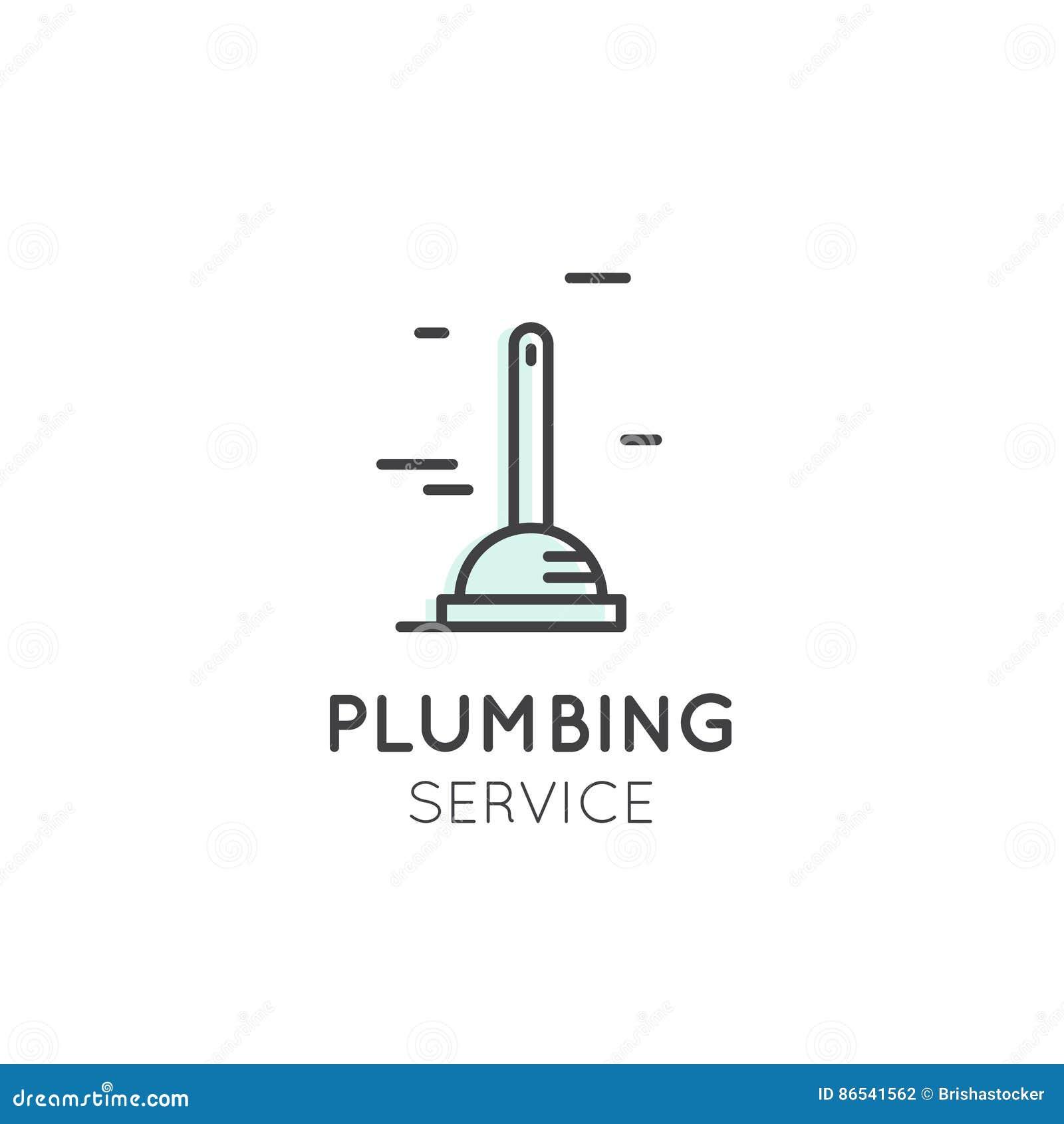 Oncept Logo Of Cleaning Service Plumbing Dishwashing Household
